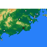 Nearby Forecast Locations - Huilai - Carte