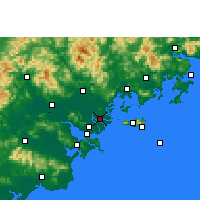 Nearby Forecast Locations - Denghai - Carte