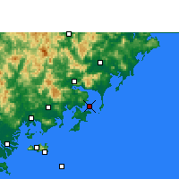Nearby Forecast Locations - Dongshan - Carte