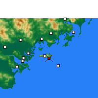Nearby Forecast Locations - Yunao - Carte
