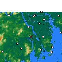 Nearby Forecast Locations - Xinhui - Carte