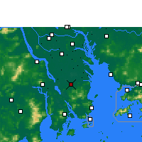 Nearby Forecast Locations - Zhongshan/GUD - Carte
