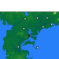 Nearby Forecast Locations - Zhanjiang - Carte