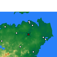 Nearby Forecast Locations - Dingan - Carte