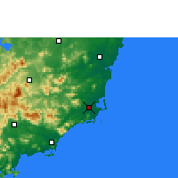 Nearby Forecast Locations - Wanning - Carte