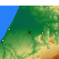 Nearby Forecast Locations - Sidi Slimane - Carte