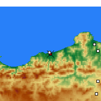 Nearby Forecast Locations - Jijel-Achouat - Carte