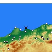 Nearby Forecast Locations - Bordj-El-Bahri - Carte