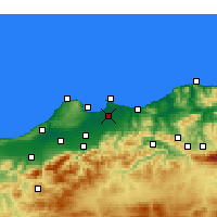 Nearby Forecast Locations - Alger - Carte