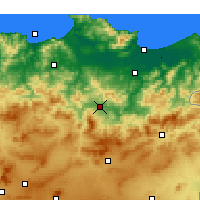 Nearby Forecast Locations - Guelma - Carte