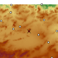 Nearby Forecast Locations - Oum El Bouaghi - Carte