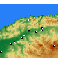 Nearby Forecast Locations - Chlef - Carte