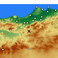 Nearby Forecast Locations - Médéa - Carte