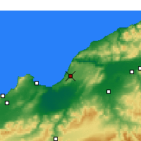 Nearby Forecast Locations - Mostaganem - Carte