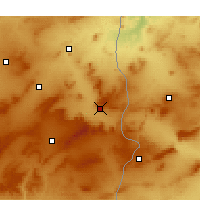 Nearby Forecast Locations - Tébessa - Carte
