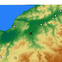 Nearby Forecast Locations - Relizane - Carte