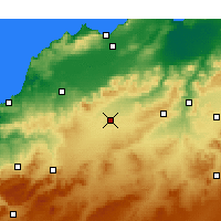 Nearby Forecast Locations - Sidi Bel Abbès - Carte