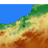 Nearby Forecast Locations - Tlemcen - Carte