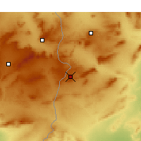 Nearby Forecast Locations - Kasserine - Carte