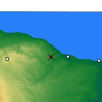Nearby Forecast Locations - El Khoms - Carte