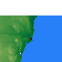 Nearby Forecast Locations - Malindi - Carte