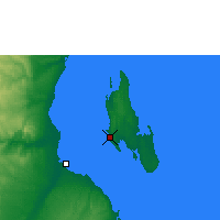 Nearby Forecast Locations - Zanzibar - Carte
