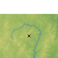 Nearby Forecast Locations - Korhogo - Carte