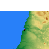 Nearby Forecast Locations - Namibe - Carte