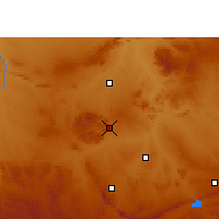 Nearby Forecast Locations - Réserve de chasse Pilanesberg - Carte
