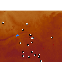 Nearby Forecast Locations - Pretoria - Carte