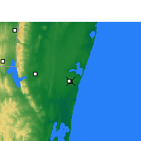 Nearby Forecast Locations - Mbazwana - Carte