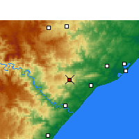 Nearby Forecast Locations - Eshowe - Carte