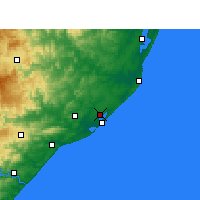 Nearby Forecast Locations - Richards Bay - Carte