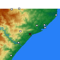 Nearby Forecast Locations - Mtunzini - Carte