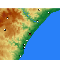 Nearby Forecast Locations - Shakaskraal - Carte
