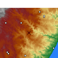 Nearby Forecast Locations - Ixopo - Carte