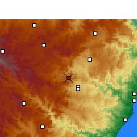 Nearby Forecast Locations - Cedara - Carte
