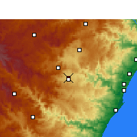 Nearby Forecast Locations - Pietermaritzburg - Carte