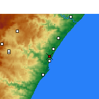 Nearby Forecast Locations - Mount Edgecombe - Carte