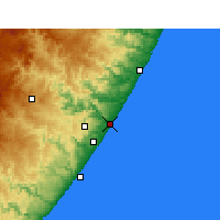 Nearby Forecast Locations - Port Shepstone - Carte