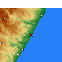 Nearby Forecast Locations - Sezela - Carte