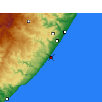Nearby Forecast Locations - Port Edward - Carte