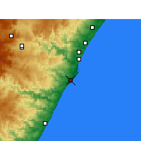 Nearby Forecast Locations - Durban - Carte