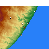 Nearby Forecast Locations - Margate - Carte