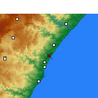 Nearby Forecast Locations - Tongaat - Carte