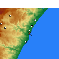 Nearby Forecast Locations - Virginia (Aéroport) - Carte