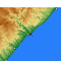 Nearby Forecast Locations - Port St. Johns - Carte