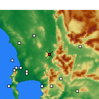 Nearby Forecast Locations - Paarl - Carte