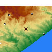 Nearby Forecast Locations - Bhisho - Carte