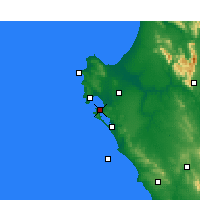 Nearby Forecast Locations - Langebaan - Carte